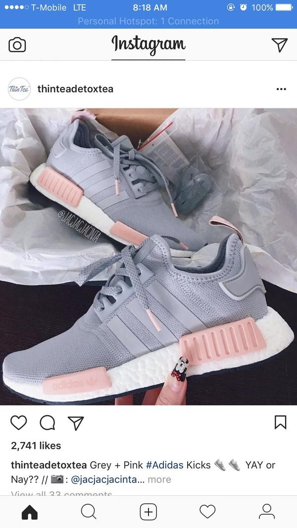 adidas nmd staffetta donne luce onix grey / vapore rosa esclusiva