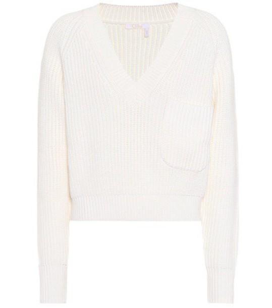 Chloe sweater wool sweater wool white