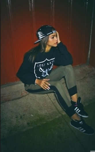 hat black and white zendaya jeans sweater shoes pants red lime sunday