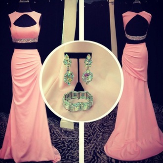 dress prom prom dress pink pink dress stylish fashion style sparkle open back shiny wow cute amazing trendy girly