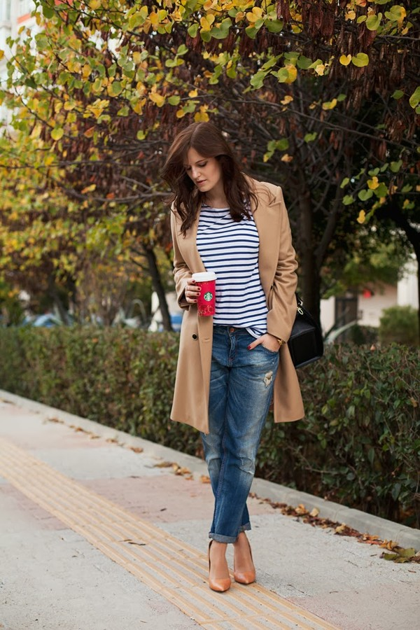 the bow-tie coat jeans t-shirt jewels shoes bag