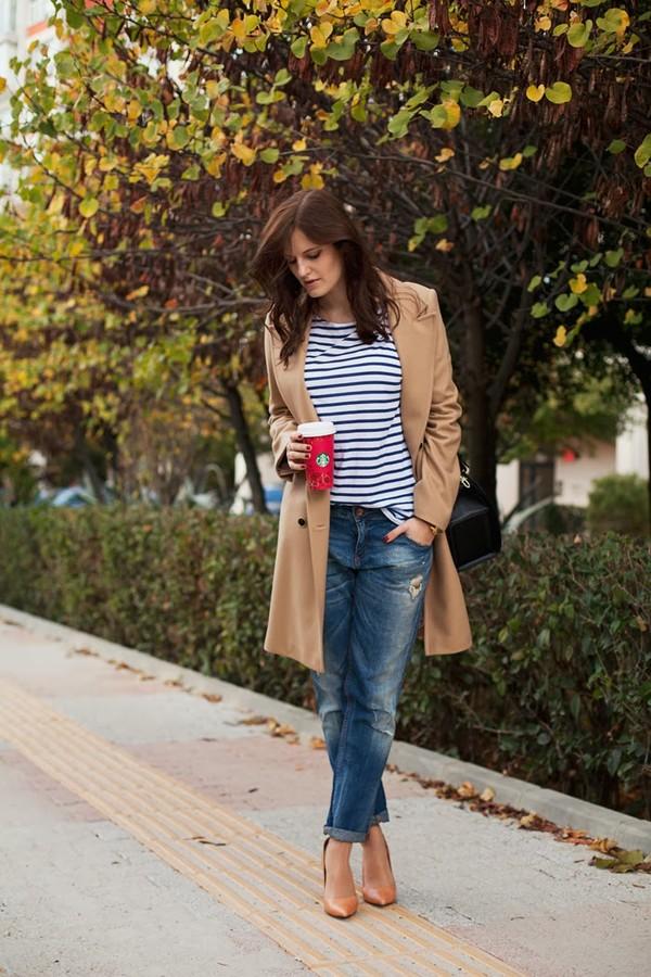 the bow-tie coat jeans t-shirt jewels shoes bag