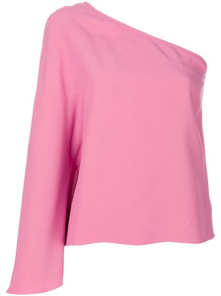 theory blouse women purple pink top