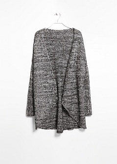 Chunky-knit wool-blend cardigan - Curve sizes | VIOLETA BY MANGO