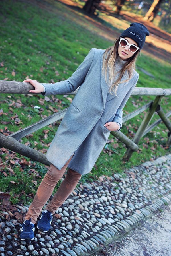 fashion quite coat hat sunglasses shoes