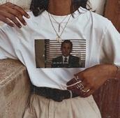 t-shirt,shirt,michael scott,the office,printed sweater,white