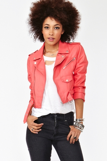 Cropped moto jacket  in  collections july lookbook at nasty gal