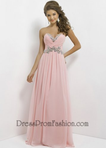 Pink Strapless Pleated Beaded Top Long Prom Dress [Beaded Top Long Prom Dress] - $162.00 : Fashion Cheap Prom Dresses, Formal, Homecoming Dresses - DressPromFashion