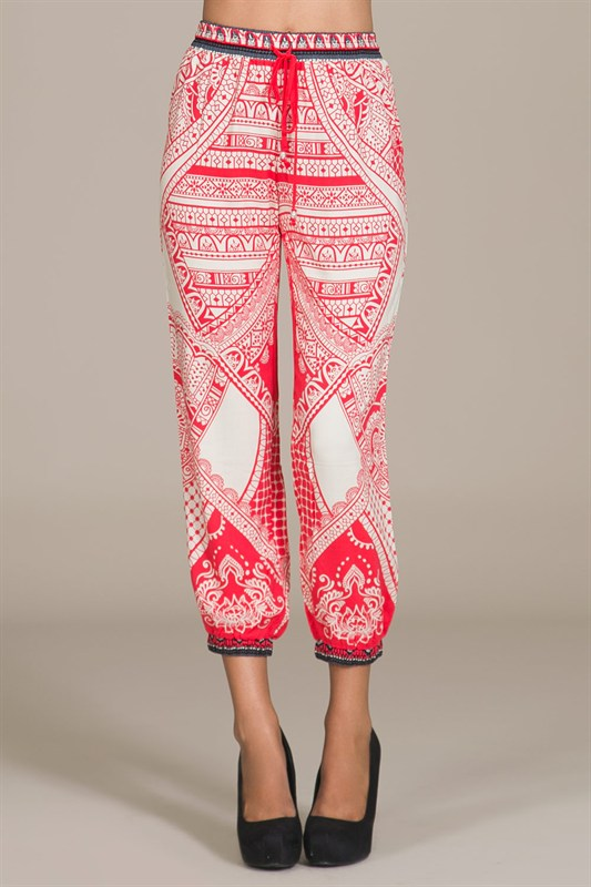 Red printed pants · trendyish · online store powered by storenvy