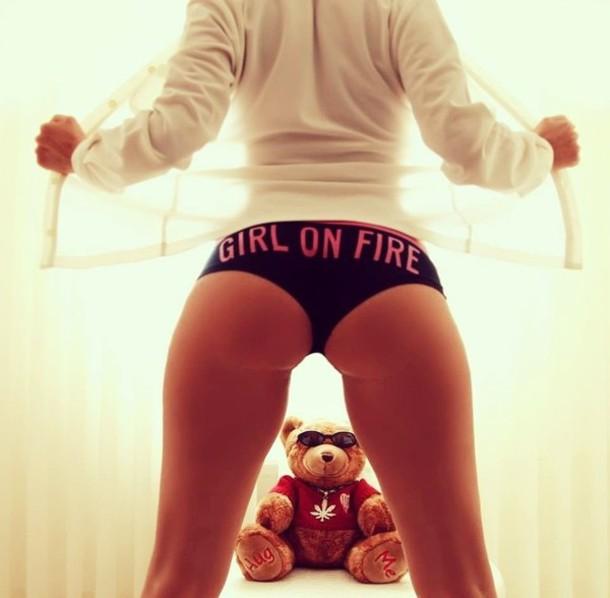 underwear black pink weed teddy bear girly girly wishlist girl pants
