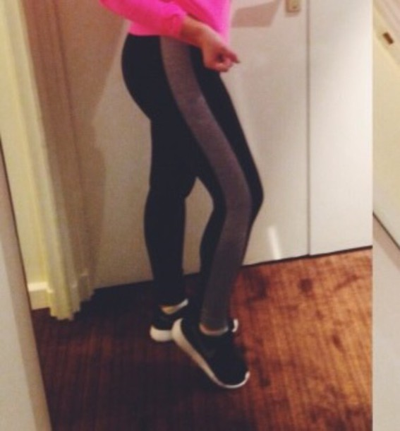 tights black grey workout