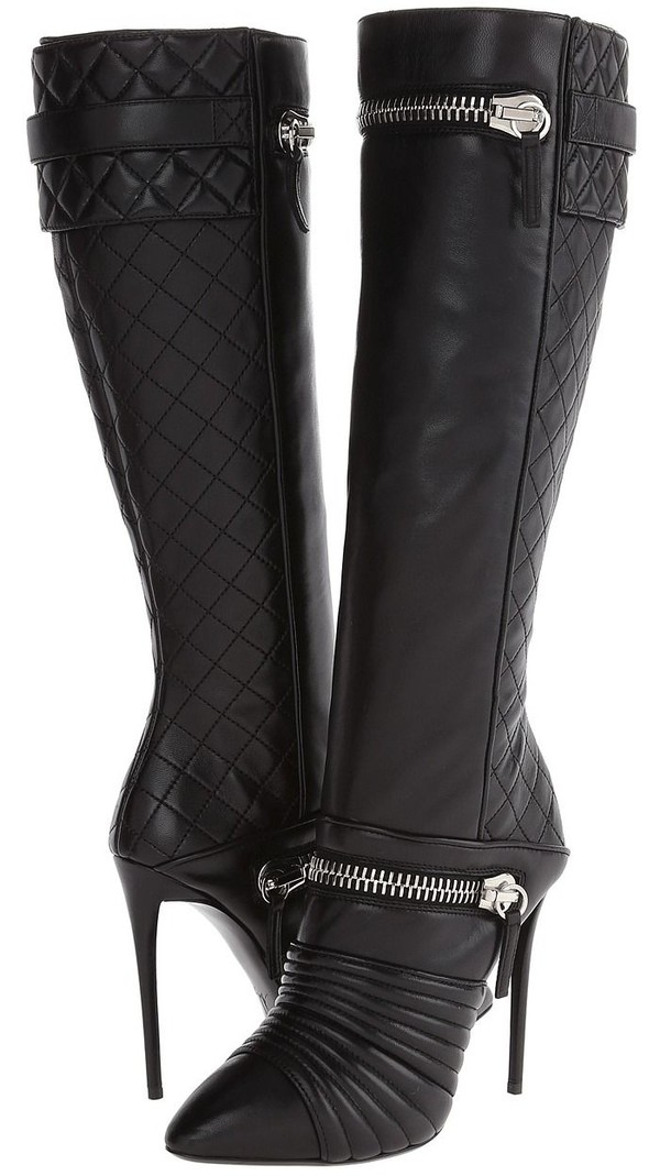 shoes paris fashion style boots zip knee high