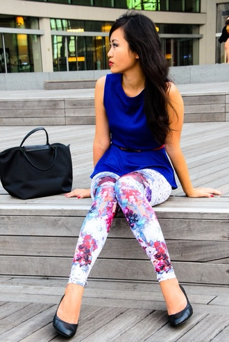 leggings printed leggings fashion floral tights flowers red red dress