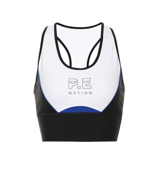 P.E Nation Acceleration crop top in white