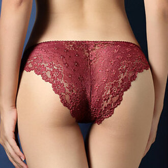 underwear lace sexy panties burgundy lace bralette lace lingerie red