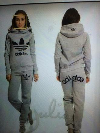 sweater hoodie adidas originals adidas tracksuit grey