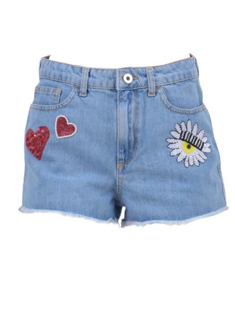 shorts denim shorts denim embellished embellished denim light blue light blue