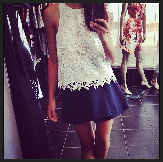 Carina – White lace tank dress  |  Steal Her Look |