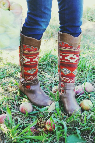 shoes aztec boots