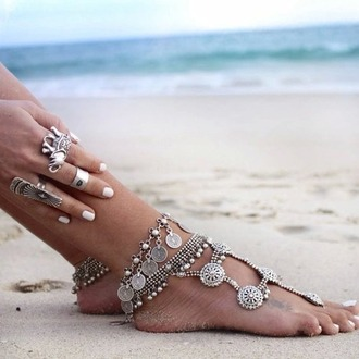 jewels anklet jewelry boho pretty lovely beach