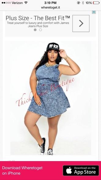 dress curvy denim dress