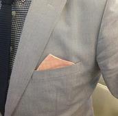 jacket,harrison,blazer,peach,hankercheif,tie,mens shirt,check shirt,navy,prom menswear,mens blazer