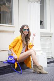 something navy,top,shoes,jewels,bag,sunglasses,jacket