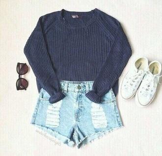 shirt shorts gray sweater grey sweater grey gray converse shoes shoes