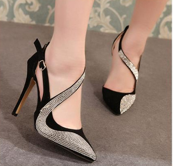 com : Buy New 2014 lady's shoes fashion leather thick high heels ...