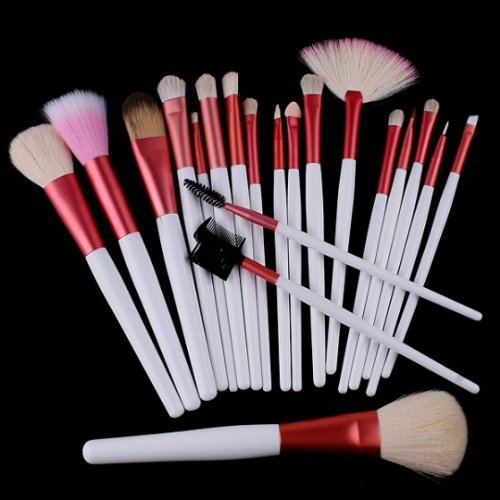 [grxjy5140023]20 PCS Cosmetic Makeup Brushes Set with One Pink Pouch
