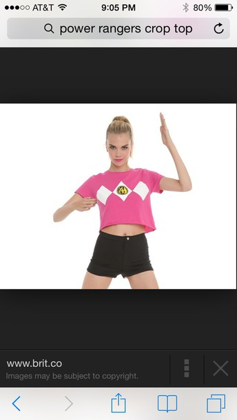shirt power rangers crop tops