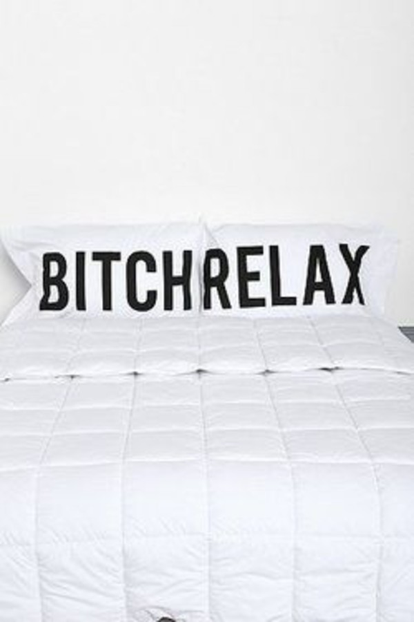 swimwear bitch relax bed set bedding quote on it