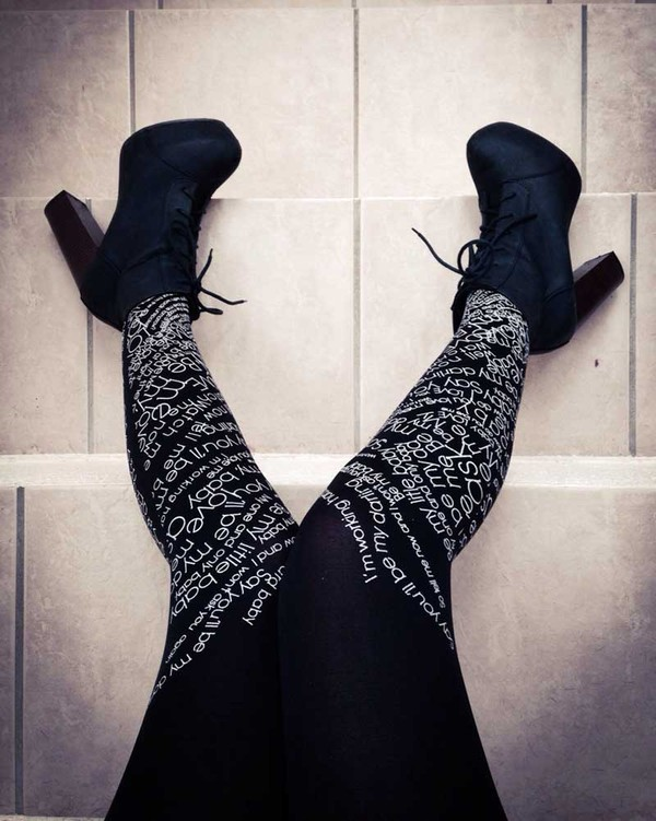 pants tights printed tights black tights