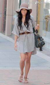 straw,vanessa hudgens,floppy hat,dress,hat