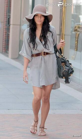 straw vanessa hudgens floppy hat dress hat
