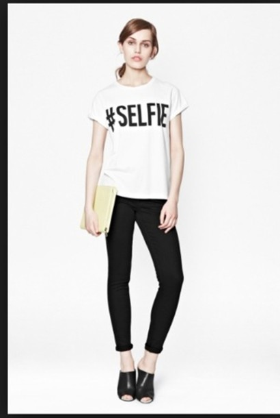 t-shirt selfie white t-shirt black writing cute funny funny shirt funny t-shirt