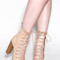 Bootie-ful chunky lace-up heels dustypink black olive beige tan - gojane.com