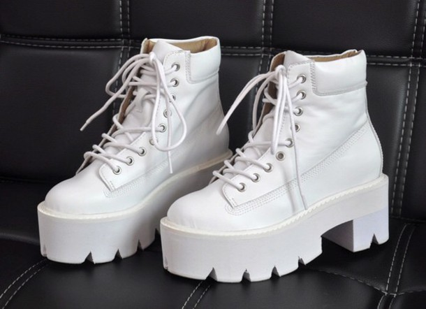 shoes white grunge boots laceshoes