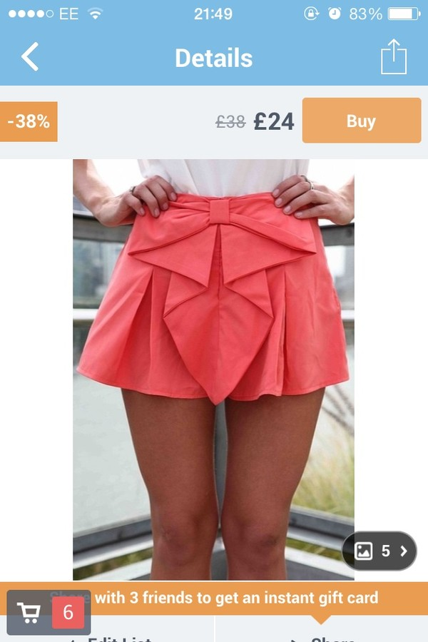 skirt bow skirt red pink skorts