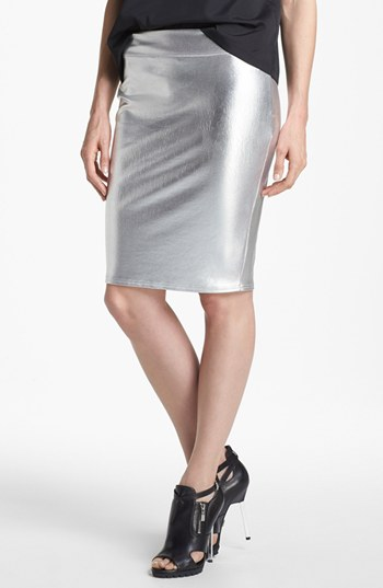 leith foiled pencil skirt nordstrom