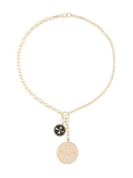 Foundrae women necklace diamond necklace gold grey metallic jewels