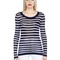 Striped silk & cotton jersey t-shirt