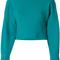 Tibi - jacquard long sleeved pullover - women - polyamide/spandex/elastane - s, blue, polyamide/spandex/elastane
