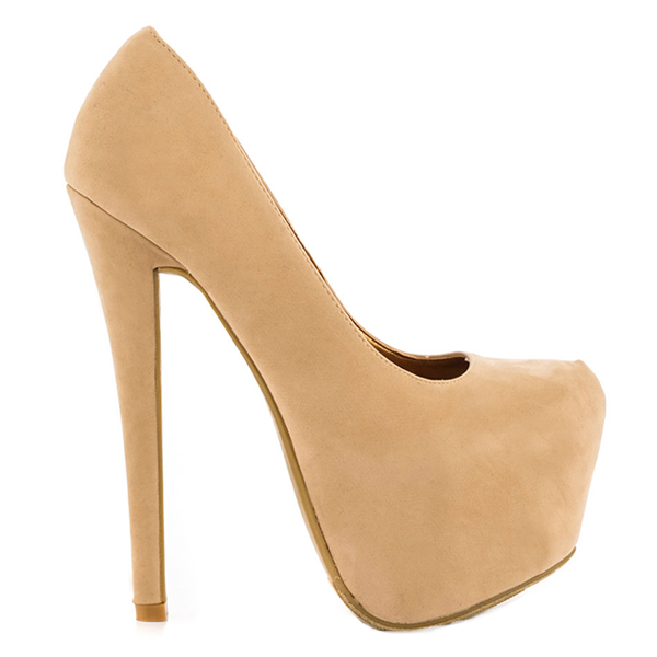 Nadia stiletto platform pump
