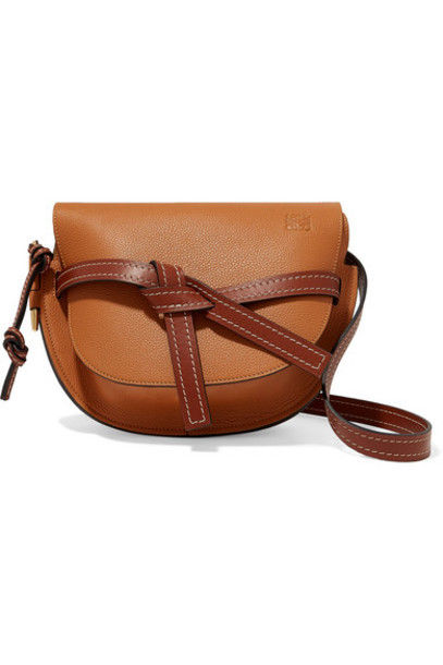 Loewe - Gate Small Textured-leather Shoulder Bag - Tan