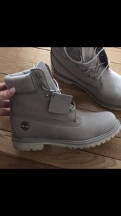 shoes,women's shoes,timberlands,grey