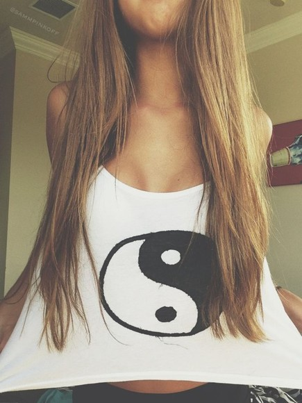 shirt ying yang tank top summer