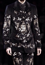 jacket,black,white,black and white,b&w,w&b,chic,fashion show,dolce and gabbana,dope,cool