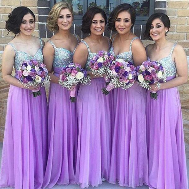 Dress: prom dress, prom, maxi, maxi dress, lavender, purple ...