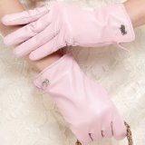 Amazon.com: leather gloves pink